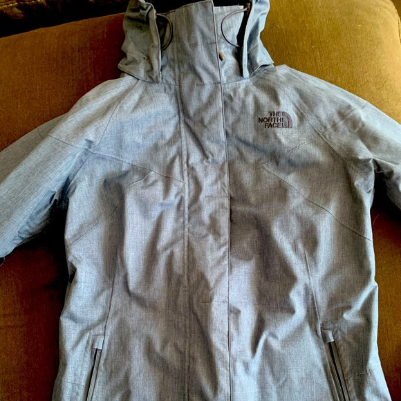 Women's North Face small heather Blue jacket